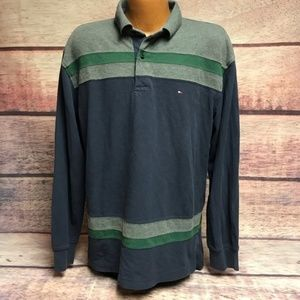 Tommy Hilfiger long sleeve polo mens large